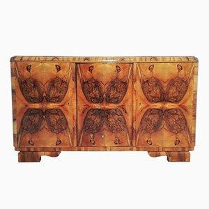 Aparador Art Déco de madera nudosa, años 20