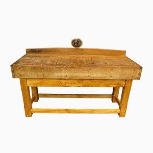 Antiker Metzgerblock Tisch