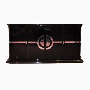 Art Deco Sideboard mit rotem Interieur, 1920er