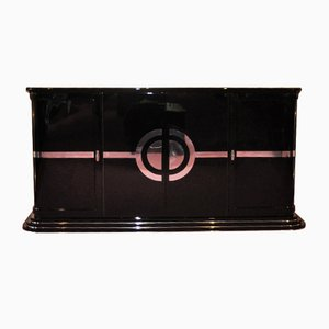 Art Deco Sideboard with Red Interior, 1920s