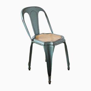 Grüner Mid-Century Stuhl von Fibrocit