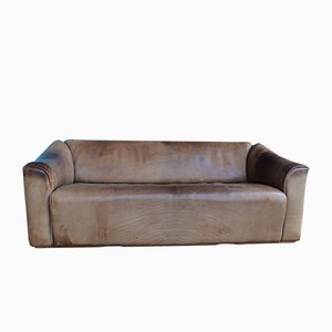 Vintage DS-47 3-Sitzer Sofa aus cognacfarbenem Nackenleder von de Sede