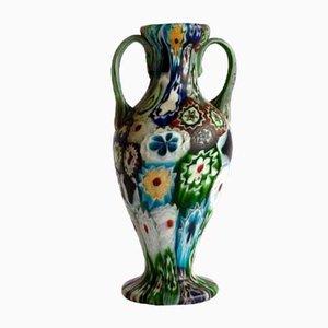 Fadenglas Vase von Fratelli Toso für Venini, 1910er