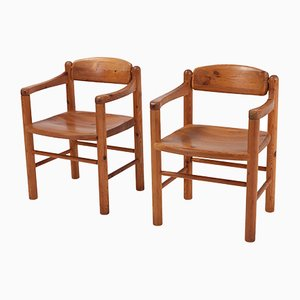 Solid Pine Armchairs by Rainer Daumiller, 1970s, Set of 2