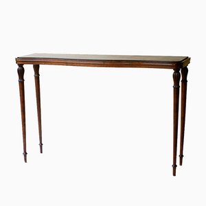 Italian Wood & Marble Console Table by Paolo Buffa, 1940s