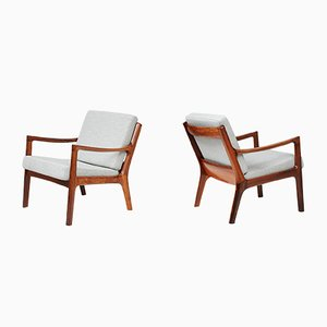 Rosewood Senator Lounge Chairs by Ole Wanscher for France & Søn, 1960s, Set of 2