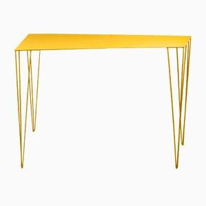 Table Console Chele Jaune par Antonino Sciortino pour Atipico