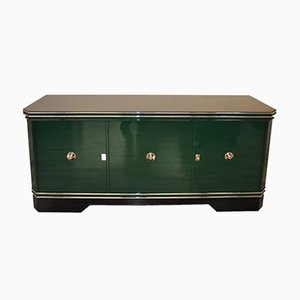 Large Art Deco Green Sideboard, 1920s