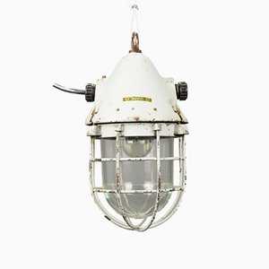 Vintage Explosion-Proof Caged Pendant Light