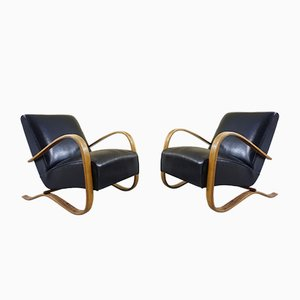 H 269 Lounge Chairs by Jindřich Halabala for Thonet, 1930s, Set of 2