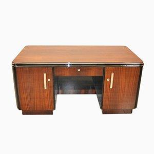 2-seitiger Art Deco Schreibtisch aus Palisander, 1920er