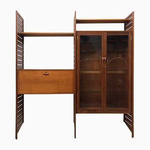 Vintage Ladderax Double Bay Wall Shelving Unit from Staples, 1960s