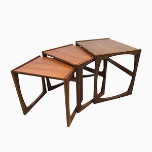 Tables Gigognes Quadrille Vintage Or par R.bennett pour G Plan, 1970s