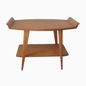 Table Basse 2-Niveaux en Bois Clair, 1950s