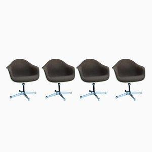 Vintage Bucket Chairs mit Drehfüßen von Charles & Ray Eames für Herman Miller, 4er Set
