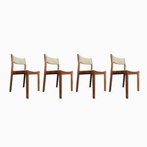 Dänische Mid-Century Esszimmerstühle aus Teak von Eric Buch für Findahls Møbelfabrik, 4er Set