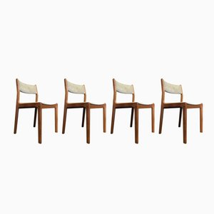 Mid-Century Danish Teak Dining Chairs by Eric Buch for Findahls Møbelfabrik, Set of 4