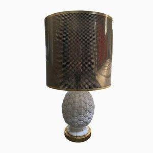 Lámpara de mesa italiana con piña de cerámica, años 70