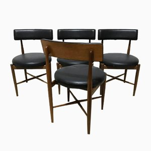 Mid-Century Round Chairs by Victor Wilkins for G-Plan, Set of 4