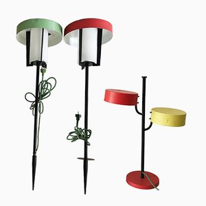 Garden Lamps from Kaiser Leuchten, 1950s, Set of 3