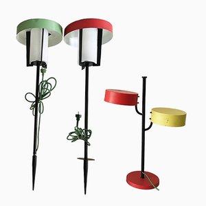 Lámparas de jardín de Kaiser Leuchten, años 50. Juego de 3