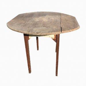 Table d'Appoint Vintage Ronde en Chêne