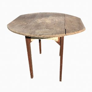 Vintage Round Oak Side Table