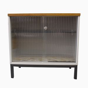 Vintage Metal Cabinet with Sliding Glass Doors from Mauser Werke Waldeck, 1960s