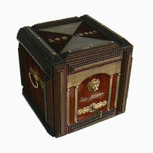 Caja de recuerdos alemana antigua, 1907