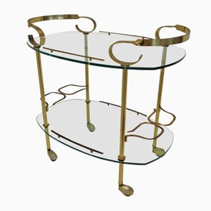 Vintage Italian Food and Bar Trolley, 1970s