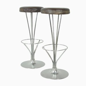 Danish Bar Stools by Piet Hein for Fritz Hansen, 1980s