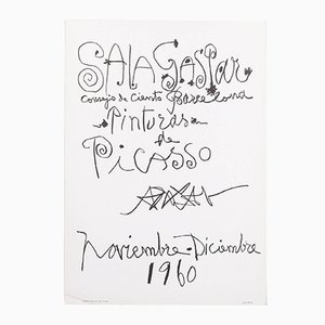 "Póster litográfico vintage ""Pinturas de Picasso"" de Picasso, 1960"
