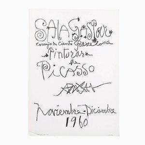 Vintage Lithografieposter Pinturas de Picasso von Picasso, 1960