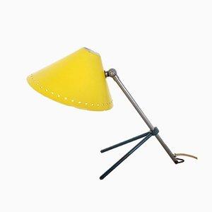 Lámpara de pared o escritorio Pinocchio Mid-Century en amarillo de H.Th.J.A. Busquet para Hala, 1953