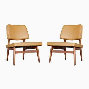 Nr. 681 Mid-Century Stühle von Günther Eberle für Thonet, 1950er, 2er Set