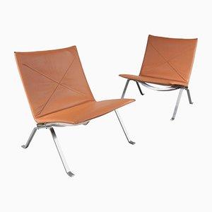 Mid-Century PK22 Chairs von Poul Kjaerholm für E. Kold Christensen, 1960er, 2er Set