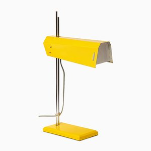 Lampada da tavolo gialla di Josef Hurka per Lidokov, anni '70