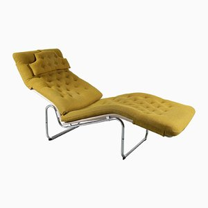 Vintage Swedish Chaise Lounge by Bruno Mathsson for Dux, 1960s