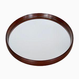 Espejo danés redondo de teca, años 60