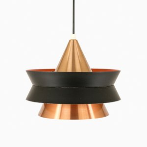 Cone-Shaped Pendant in Copper & Metal by Carl Thore for Granhaga, 1960s