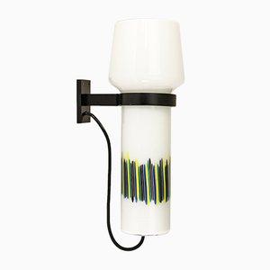 Polychrome handgeblasene Wandlampe von Massimo Vignelli für Venini, 1950er