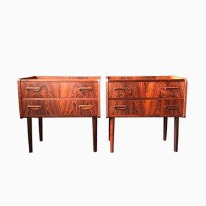 Tables de Chevet en Palissandre, 1960s, Set de 2