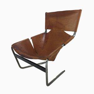 Brauner Modell F444 Sessel von Pierre Paulin für Artifort, 1970er