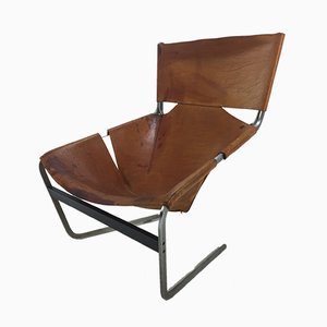 Model F444 Brown Lounge Chair by Pierre Paulin for Artifort, 1970s