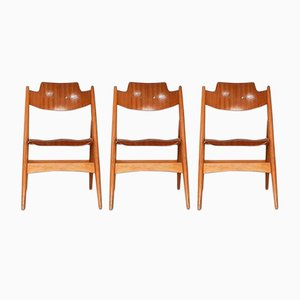 SE18 Folding Chairs by Egon Eiermann for Wilde+Spieth, 1952, Set of 3
