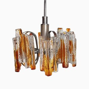 Italian Heavy Murano Glass Chandelier by Carlo Nason for Mazzega, 1970s