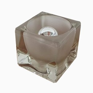 Lámpara de mesa Icecube de vidrio de Peill & Putzler, años 70