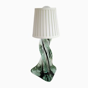 Vintage French Crystal Table Lamp, 1960s
