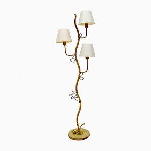 Verzierte Stehlampe, 1940er