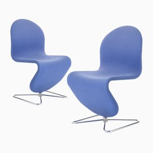 Vintage Lounge Chairs by Verner Panton, Set of 2